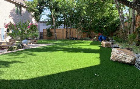 Residential Artificial Grass backyard