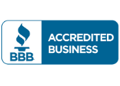 "Better Business Bureau's ""Accredited Business"" badge for Ideal Turf"