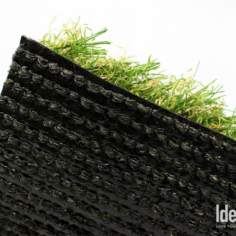 "Amazon 106 artificial turf closeup of ""Cascade Backing System"""