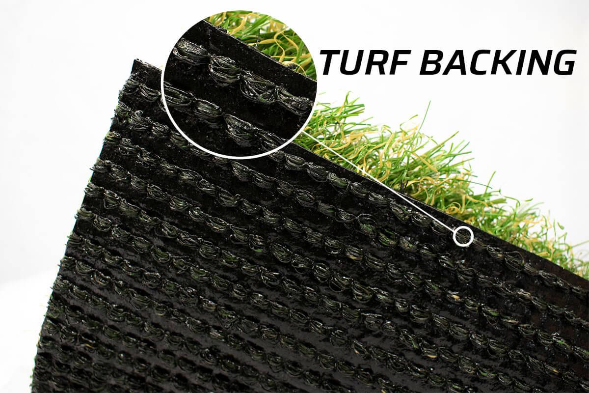 Artificial Grass Backing Closeup