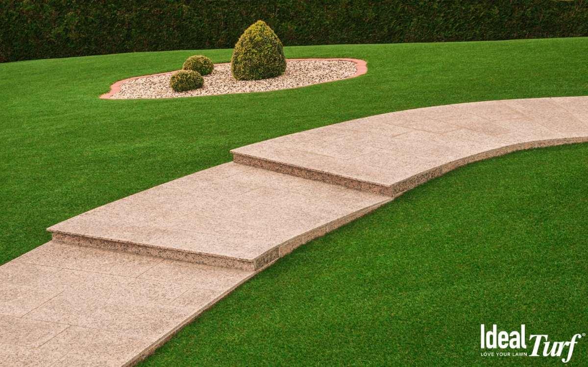 Artificial Turf Lined Walkway
