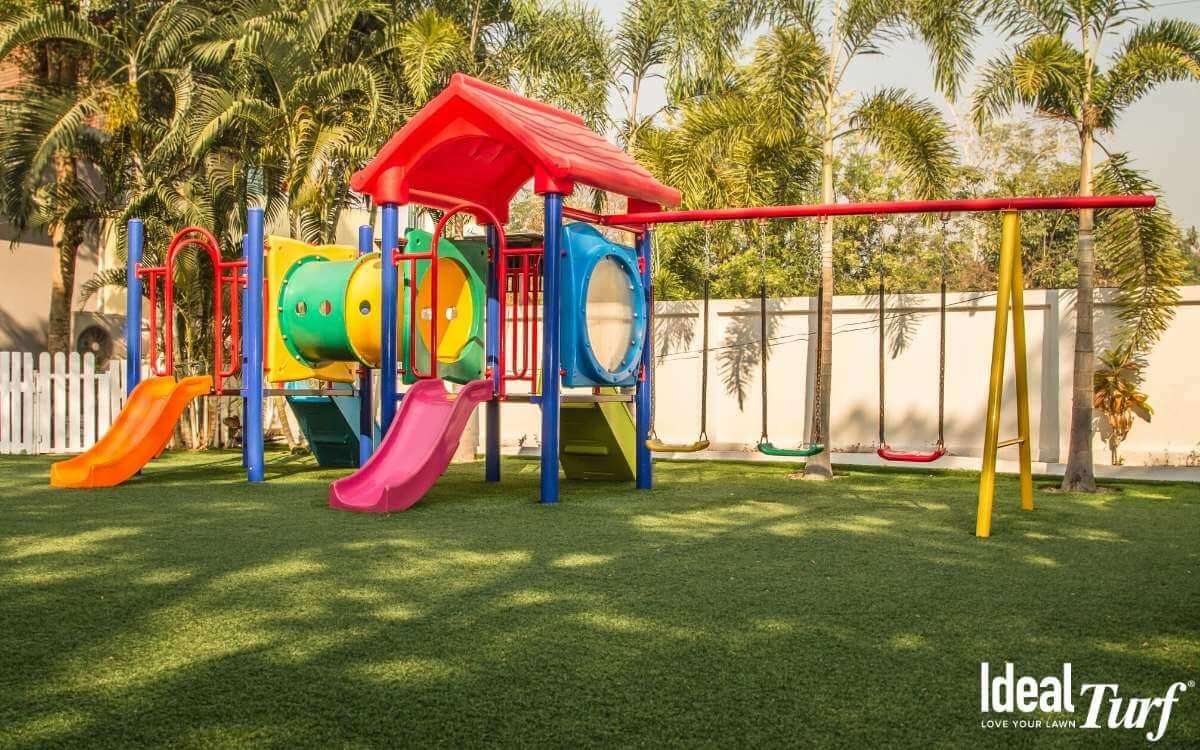 Backyard Play Area Turf Installation