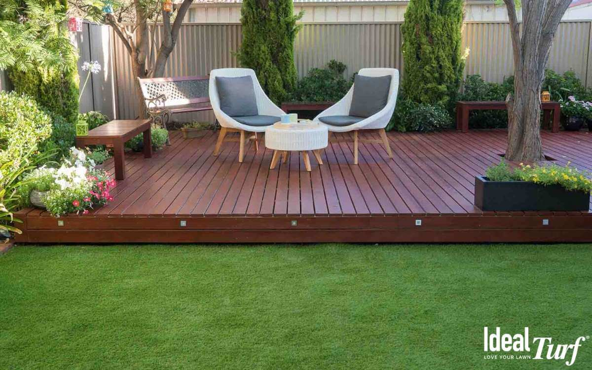 Landscape Turf Next To Porch