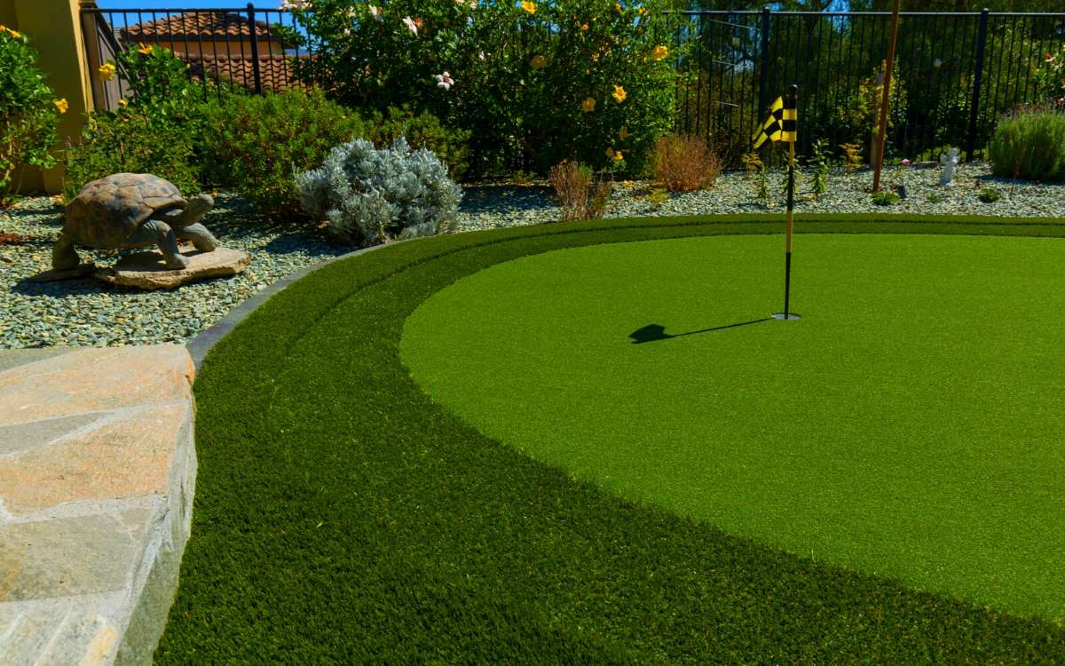 Putting green installation by Ideal Turf in Austin Texas