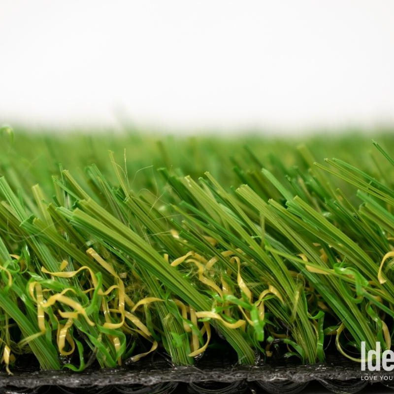 Side view closeup of Rhine 76 HD - Artificial pet turf from Ideal Turf