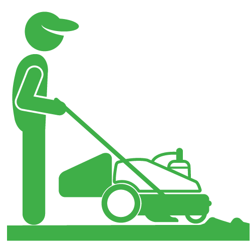 """Removing natural grass with a """"Sod Cutter"""""""