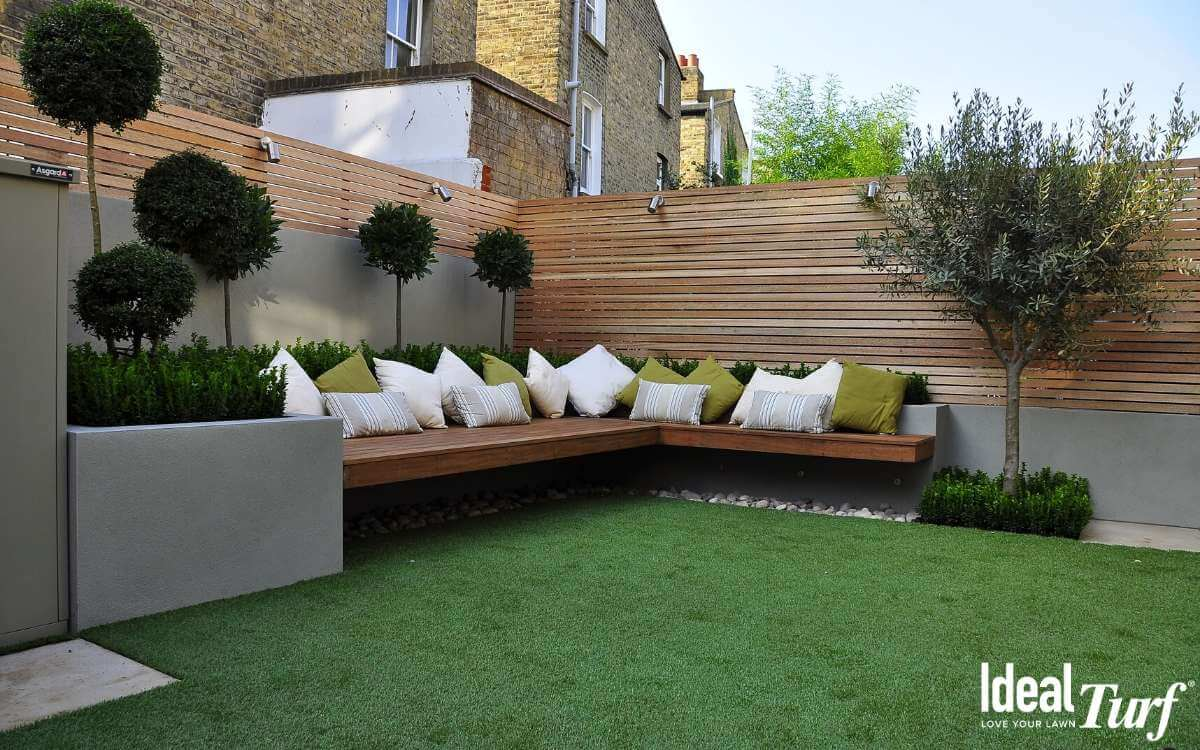 Synthetic Grass Backyard Landscape