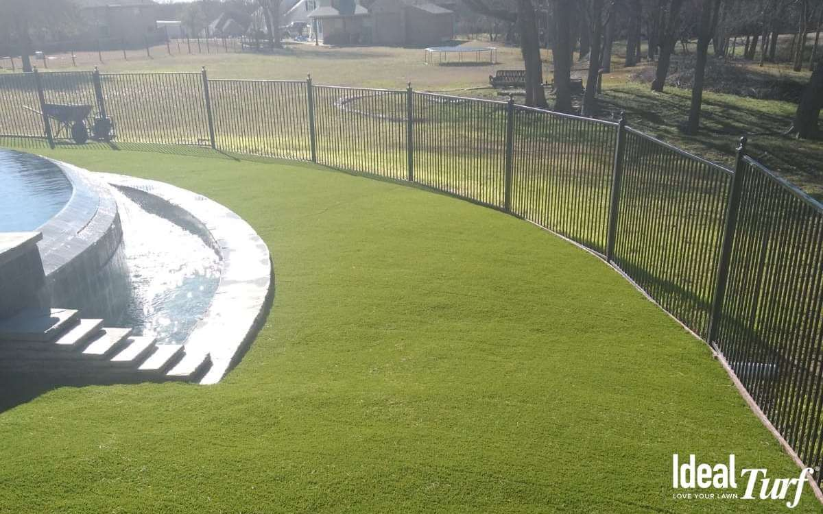 Synthetic Turf Around Pool