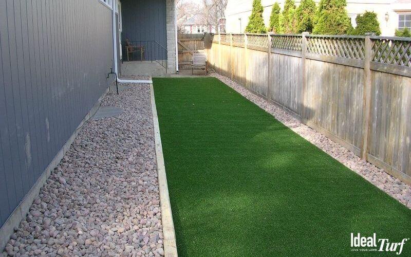 Install Dog Run with Artificial Grass