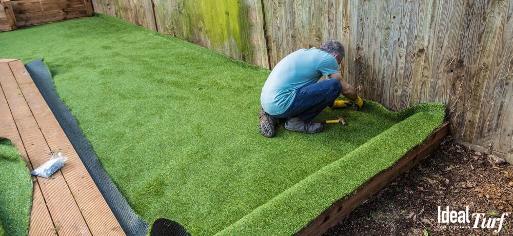 Where can I install fake grass for dogs?