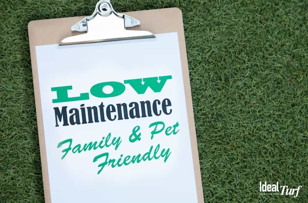 Artificial grass is low maintenance and saves upkeep costs