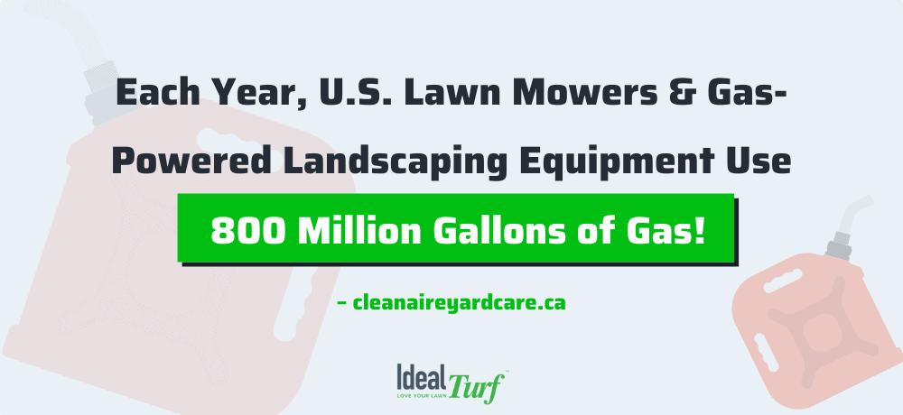 Lawn Equipment Gas Use