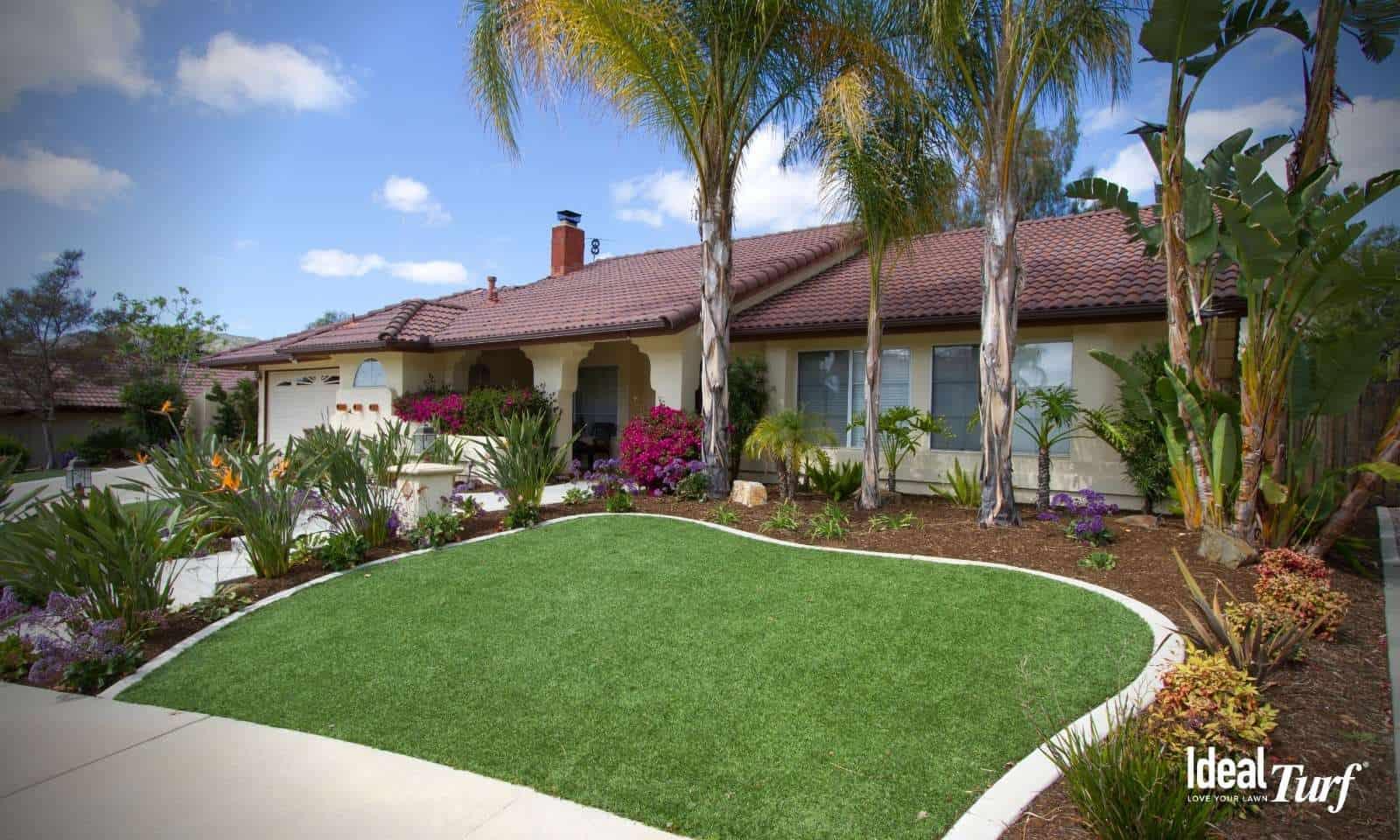 Artificial Grass Front Yard