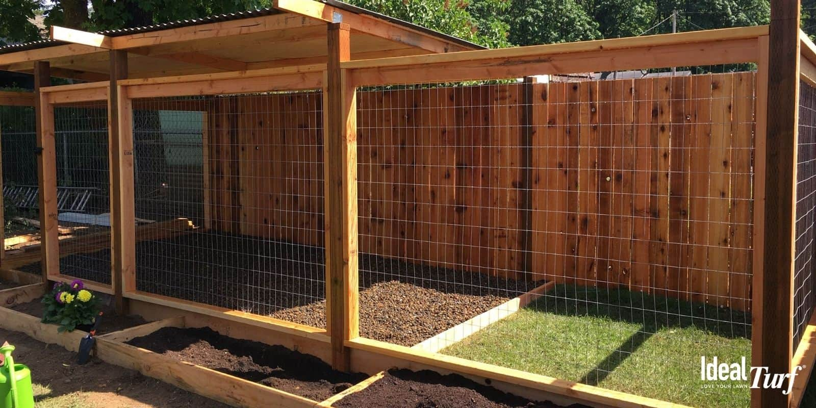 Dog Run Wood Chips or Mulch Ground Cover
