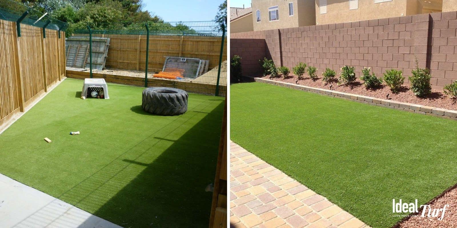 Backyard Dog Runs with Synthetic Grass
