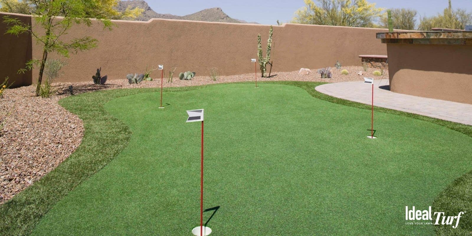 13. Backyard Turf Golf Green
