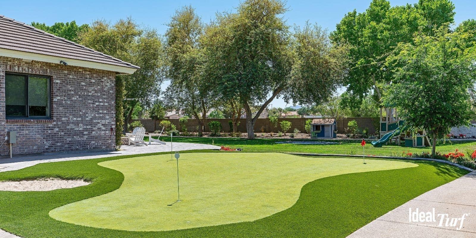 8. Artificial Turf Backyard Putting Green