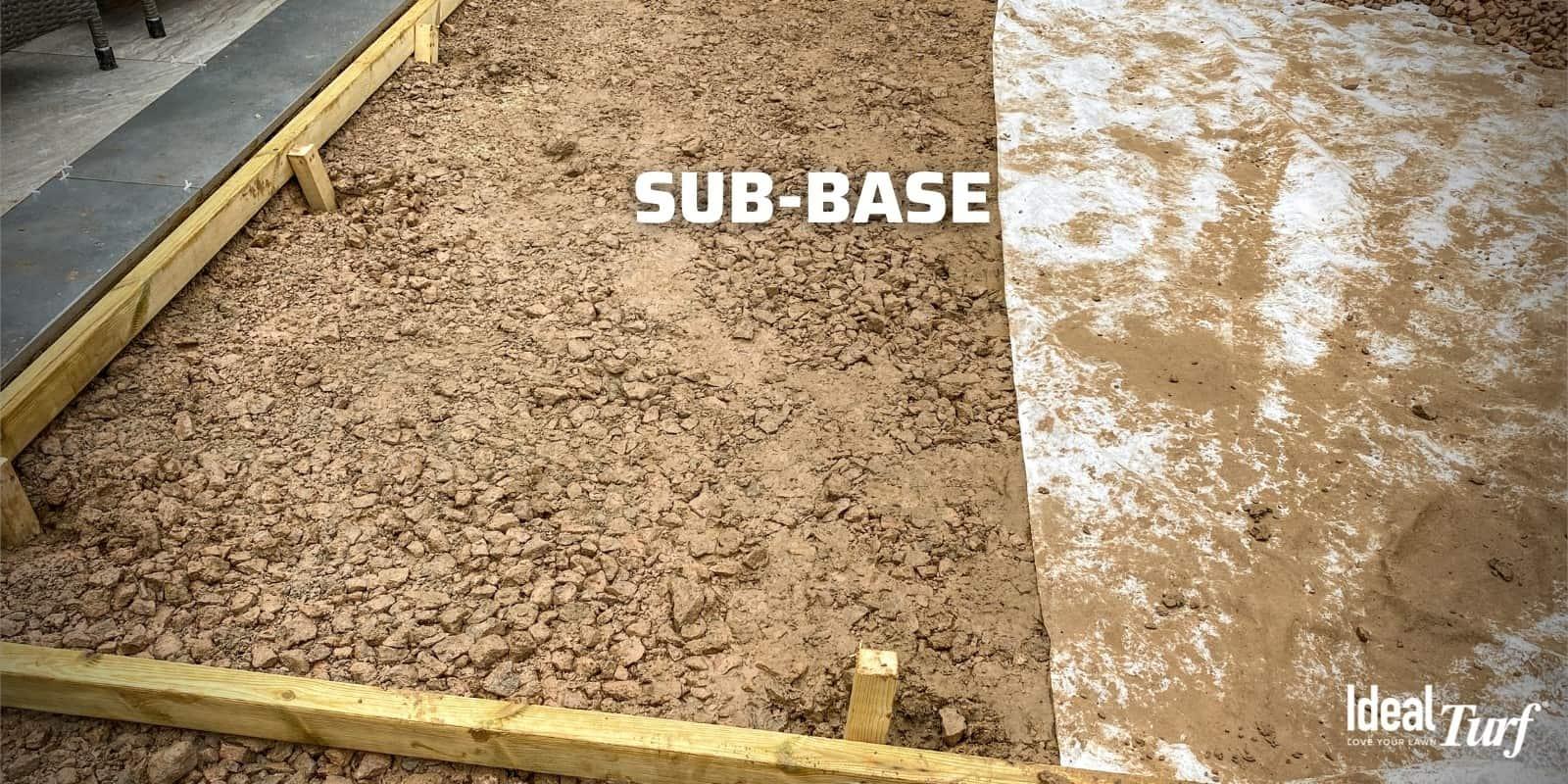 Turf installation sub-base