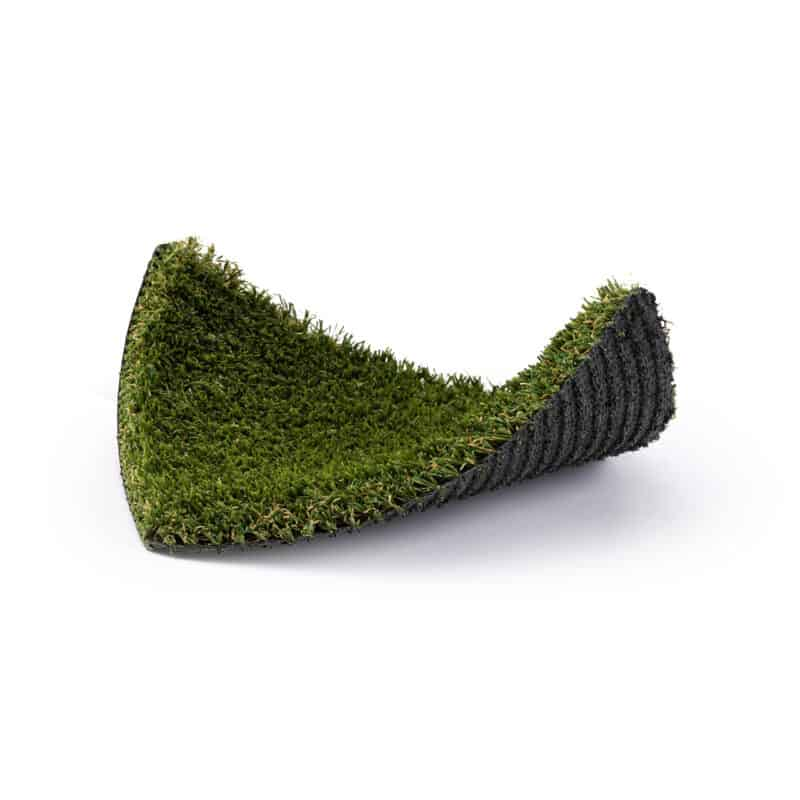 Nile 76 turf product sample with front right and back left corners raised