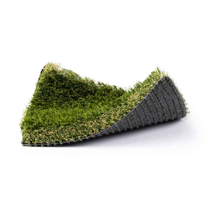 Rio Grande 101 turf product sample with front right and back left corners raised