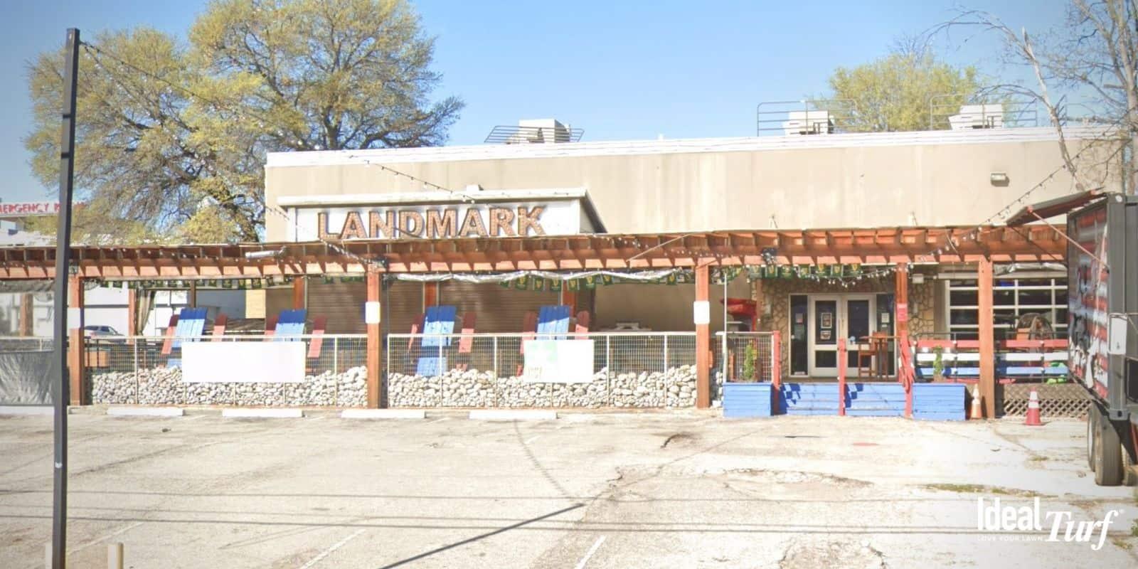 Photo from street of Landmark Bar & Kitchen in Fort Worth, TX